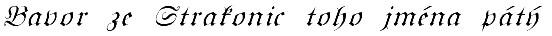 Bavor podpis