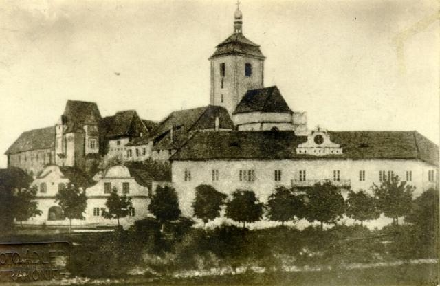 Takto ještě mohl Sedláček hrad vidět